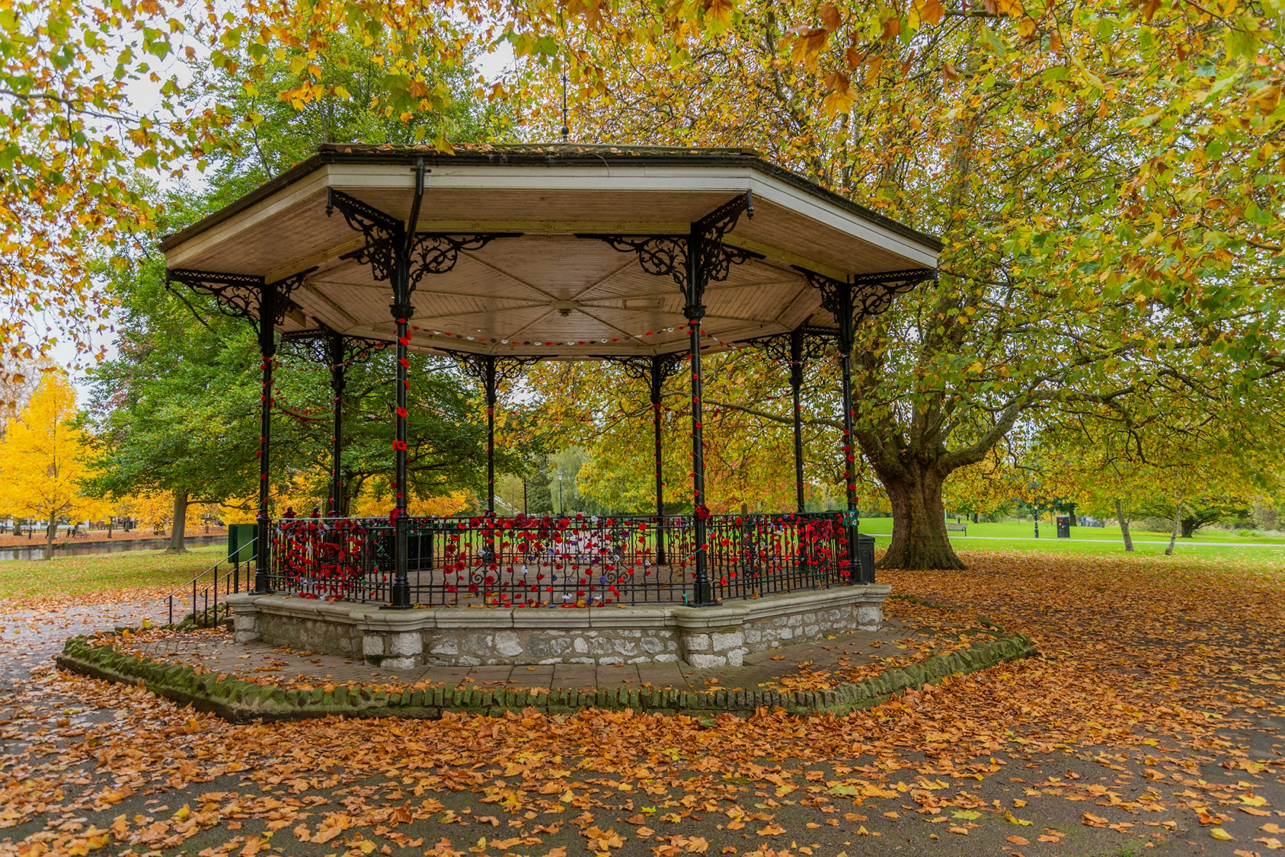 The Bandstand, The Embankment, Bedford in Autumn