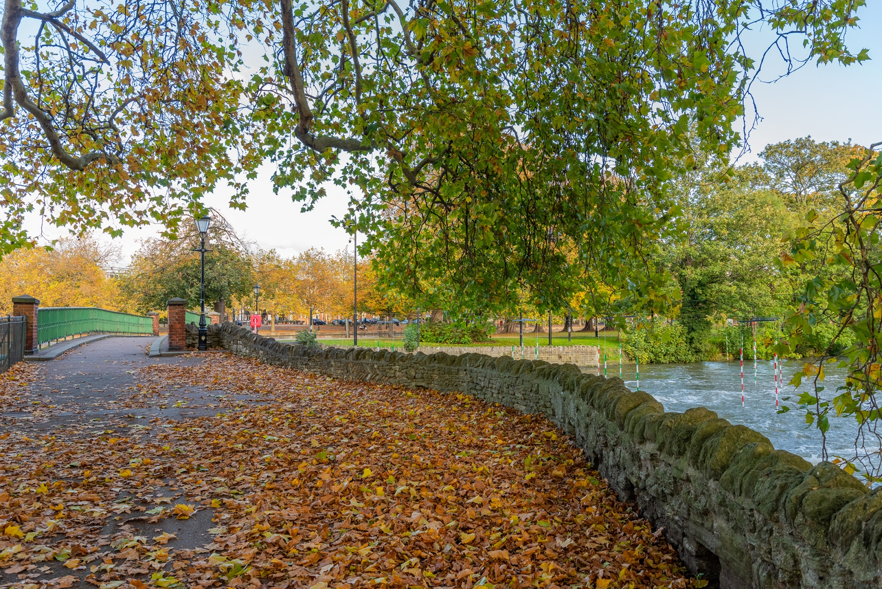 The Embankment, Bedford in Autumn