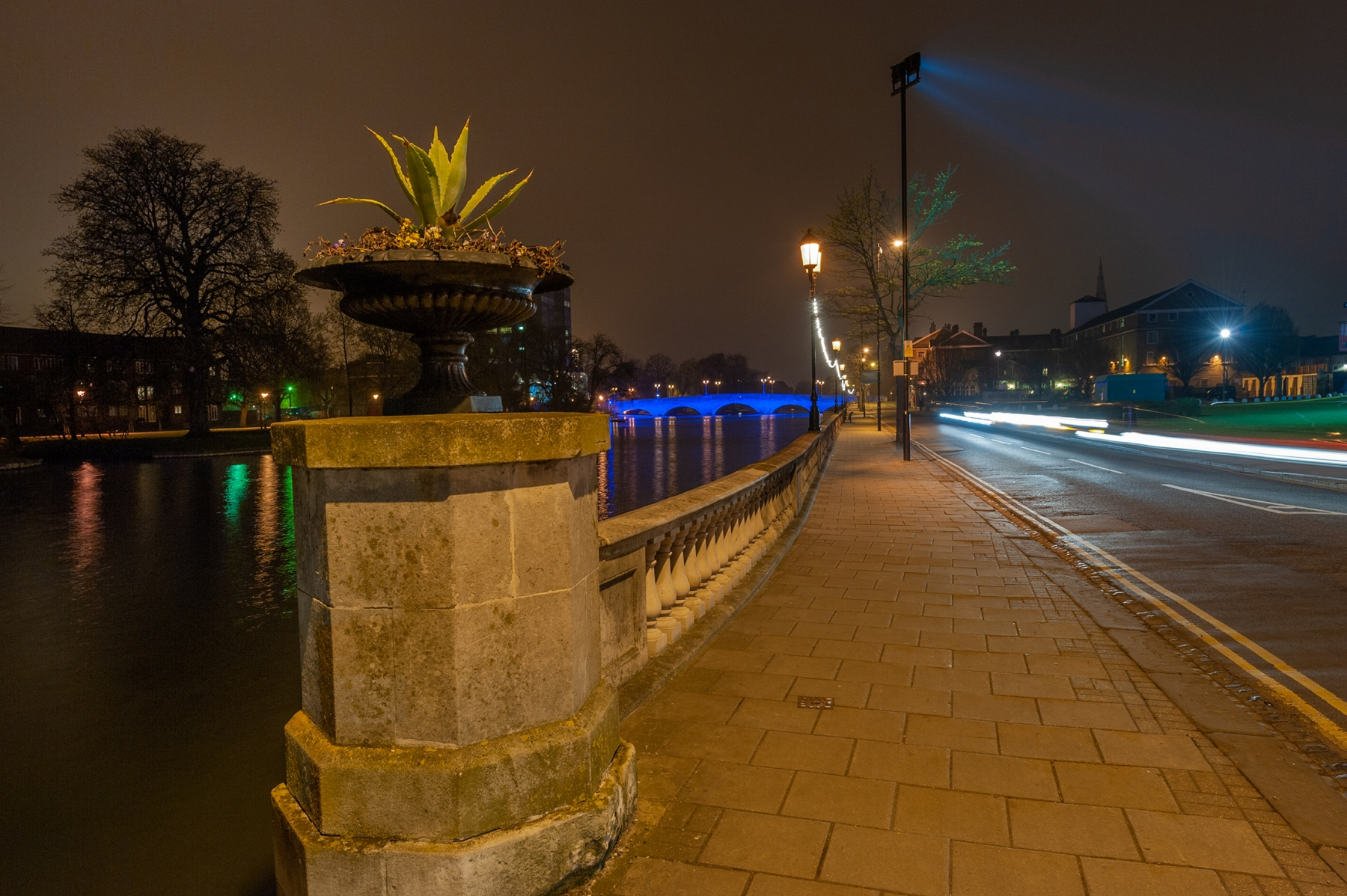 The Embankment, Bedford at night