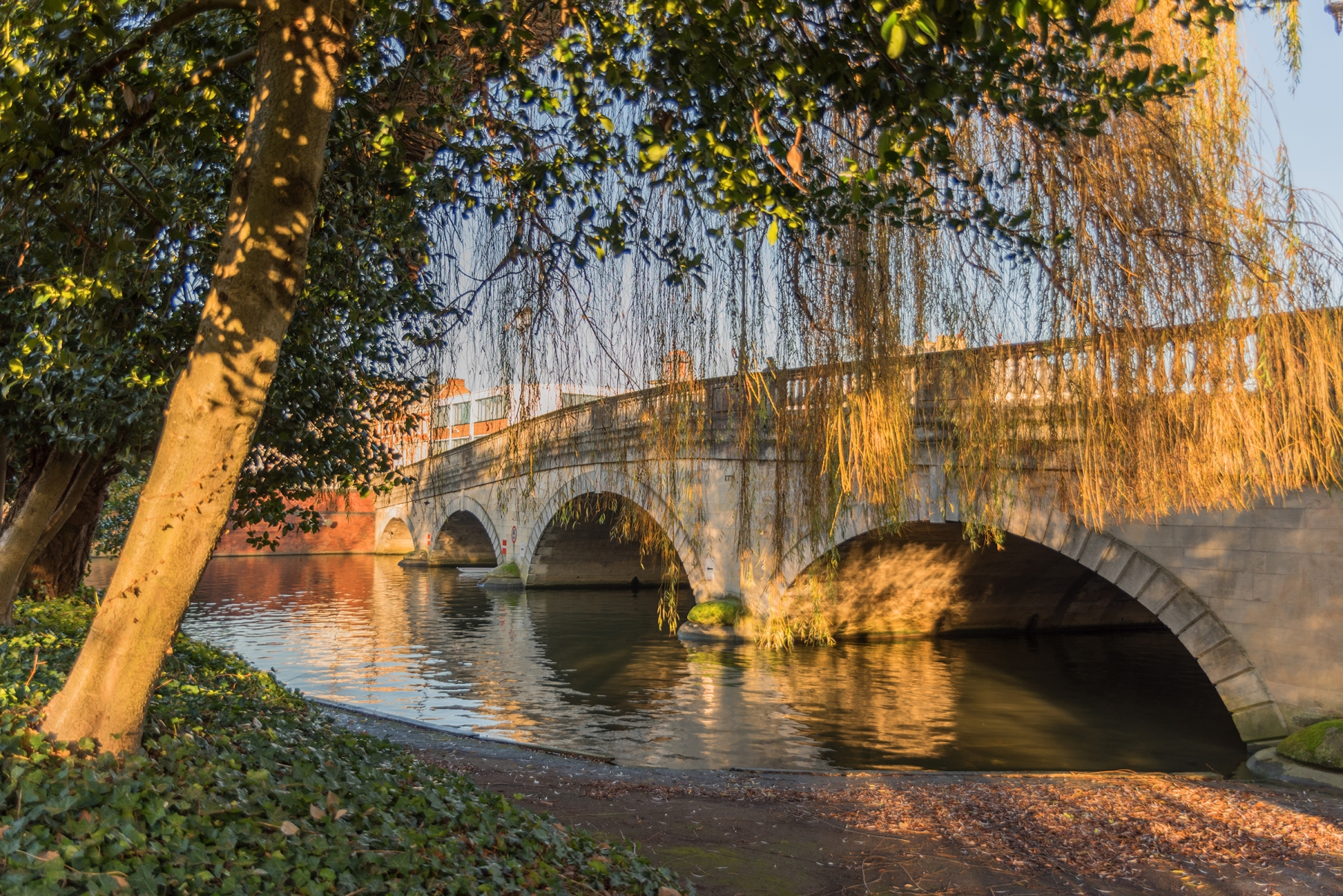 Bedford Bridge, Bedfordshire, viewed from The Embankment