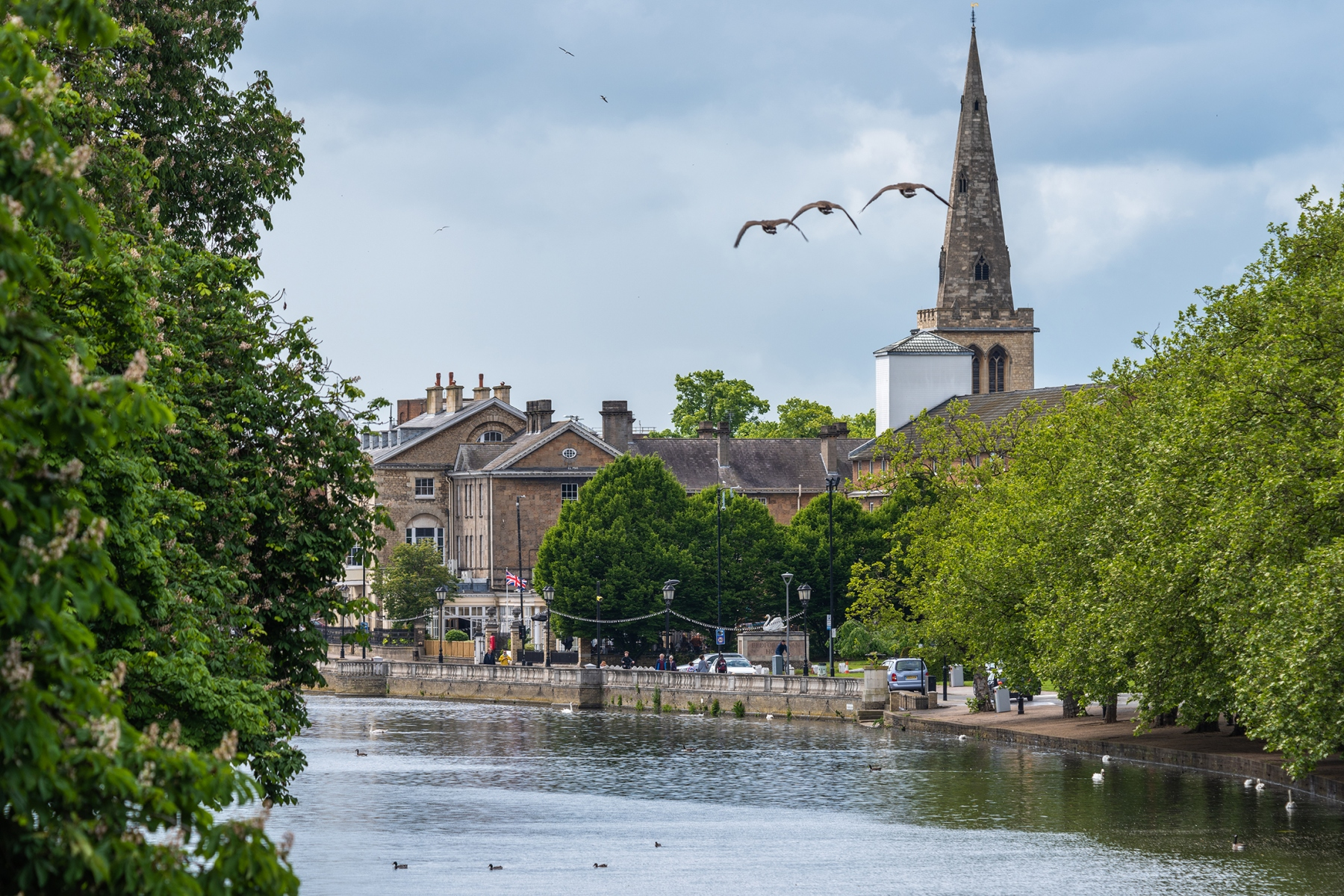 View from Embankment Bridge of River Great Ouse, Bedford